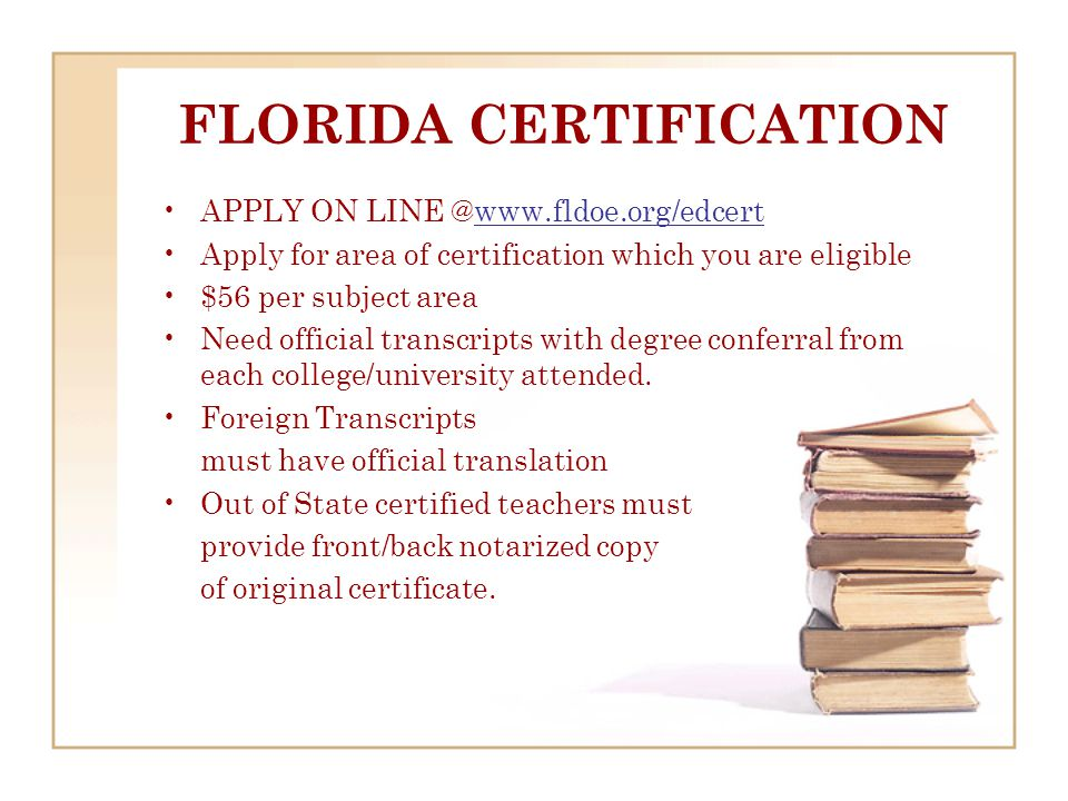 Florida Certification Exams REGISTRATION BOOKLET FOR PAPER EXAMS COMPUTER BASED EXAMS MUST REGISTER VIA WEBSITE www.cefe.usf.edu
