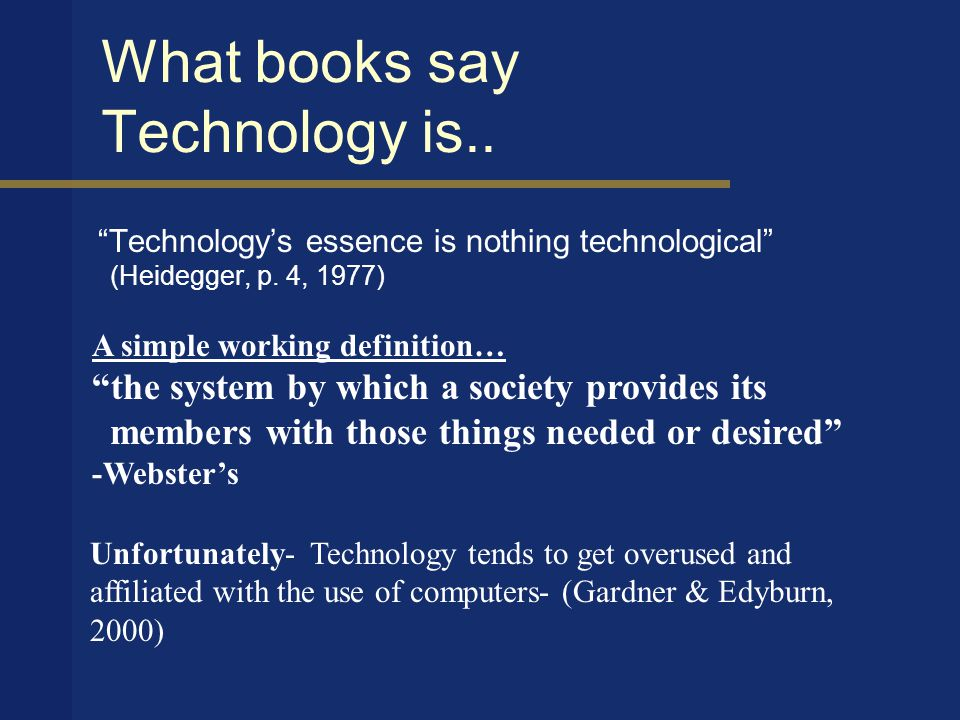 Using technology to broaden the learning experiences by increasing knowledge, information, and investigation. -Special Education Teacher What is Technology Integration.