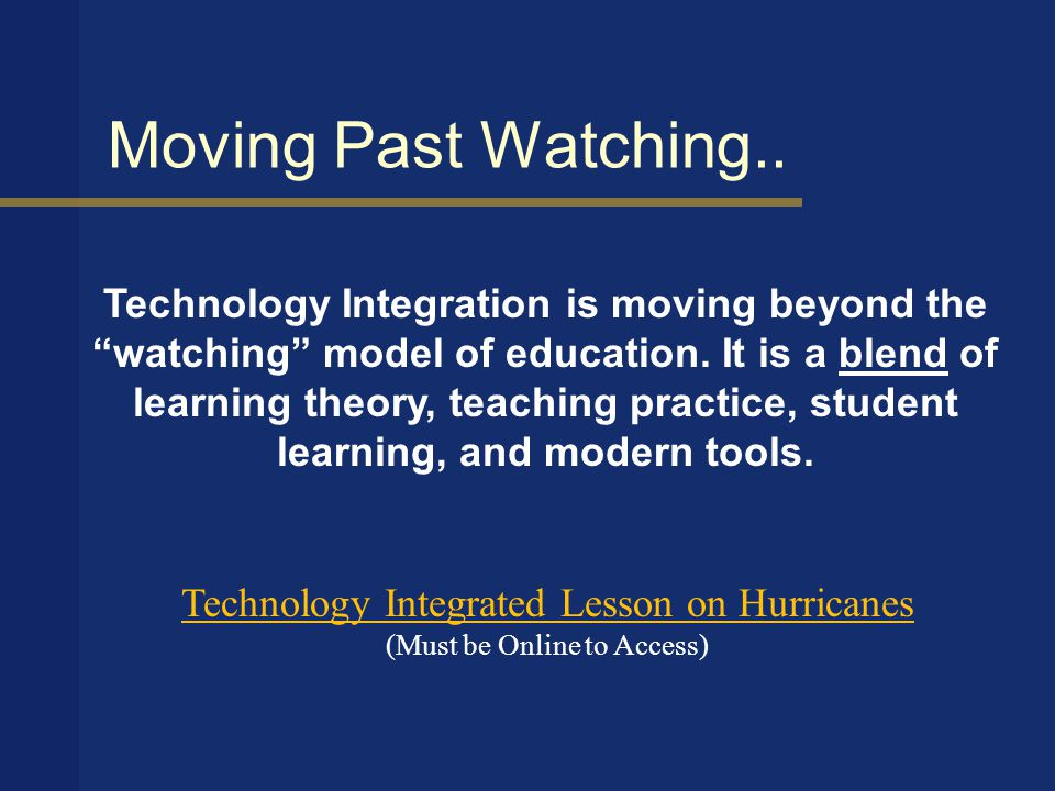 When technology is integrated..
