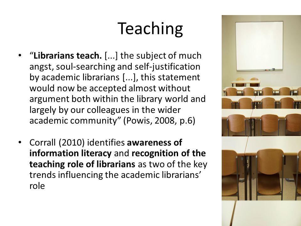Teaching Librarians teach.