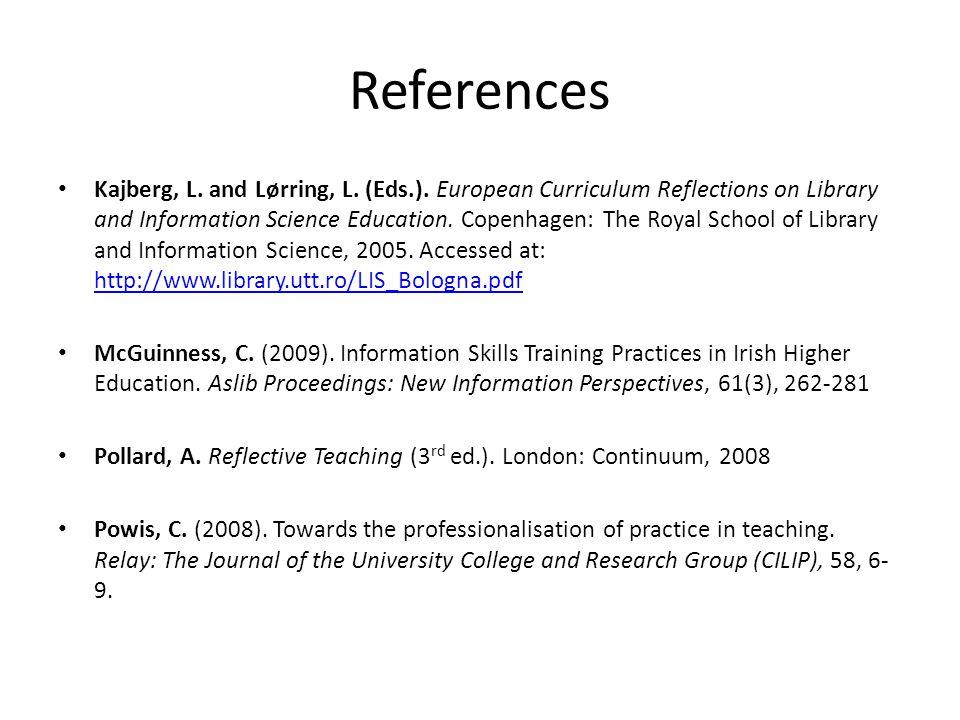 References Kajberg, L. and Lørring, L. (Eds.).
