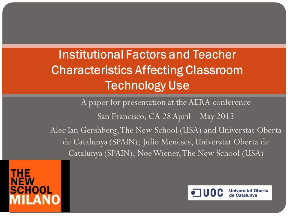 A paper for presentation at the AERA conference San Francisco, CA 28 April – May 2013 Alec Ian Gershberg, The New School (USA) and Universtat Oberta d