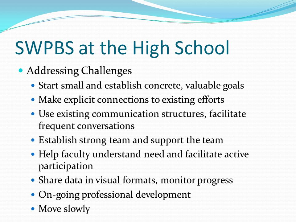 Improve Attendance-Universal Initial Brainstorming--Multi-Component Plan Prevention, Teaching, Acknowledging, Responding Practices, Systems, Data, Outcomes Increase Frequency and Clarity of Messages to Families and Students Attendance Newsletter Faculty attention Goal Setting and Monitoring Class Competitions Individual Rewards