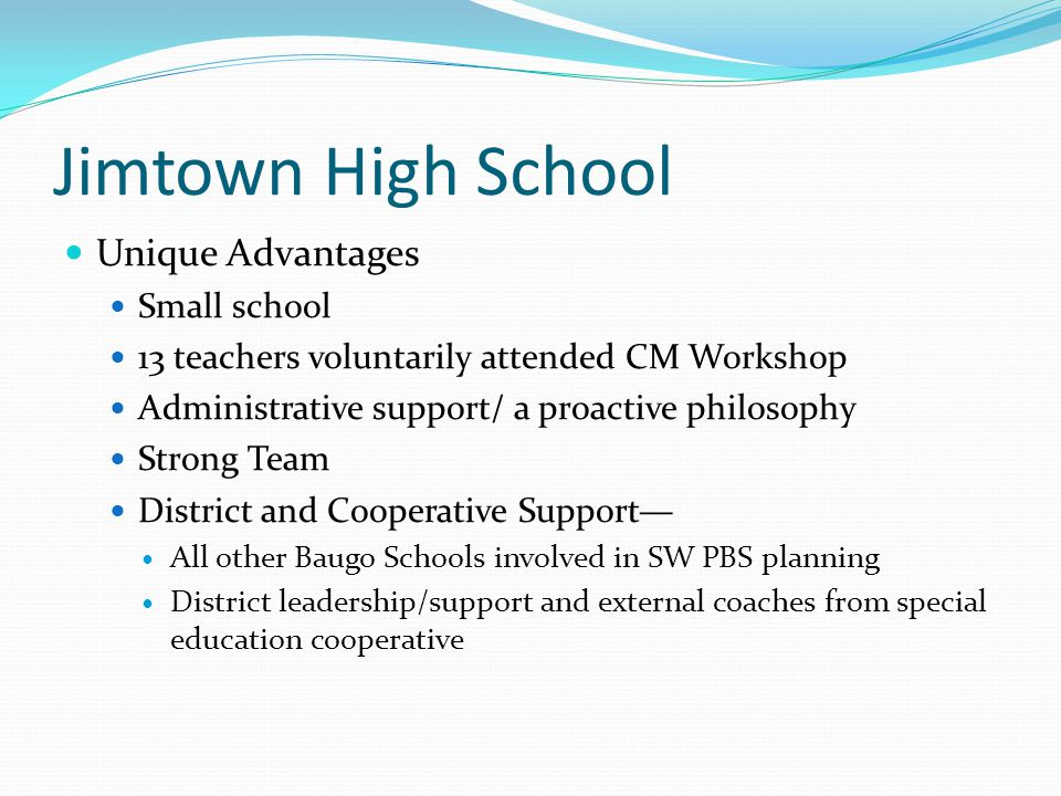Getting Started High School in own training cohort External Coach—BC from SE cooperative Internal Coach—Special Ed.