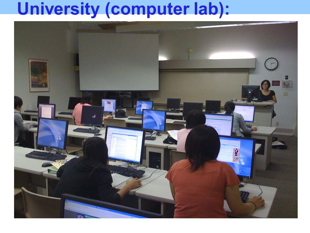 University (computer lab):