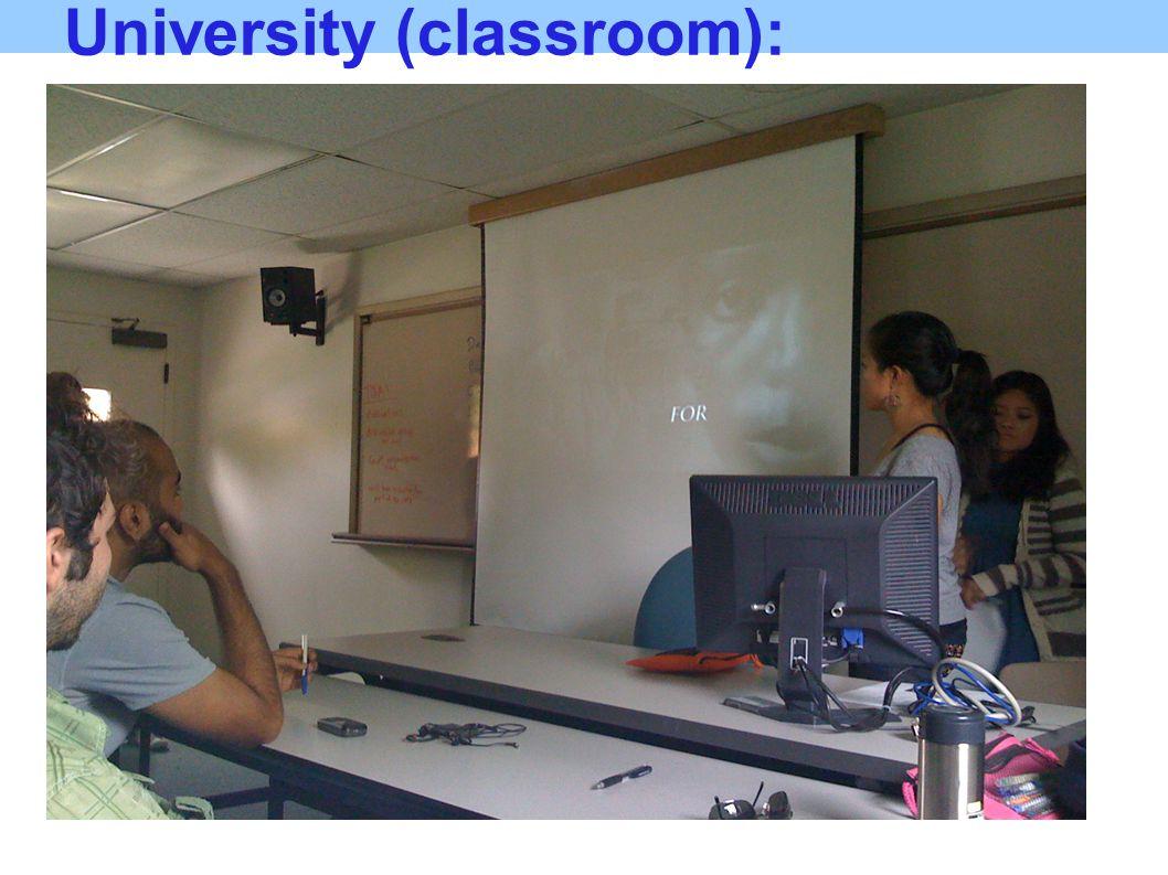University (classroom):