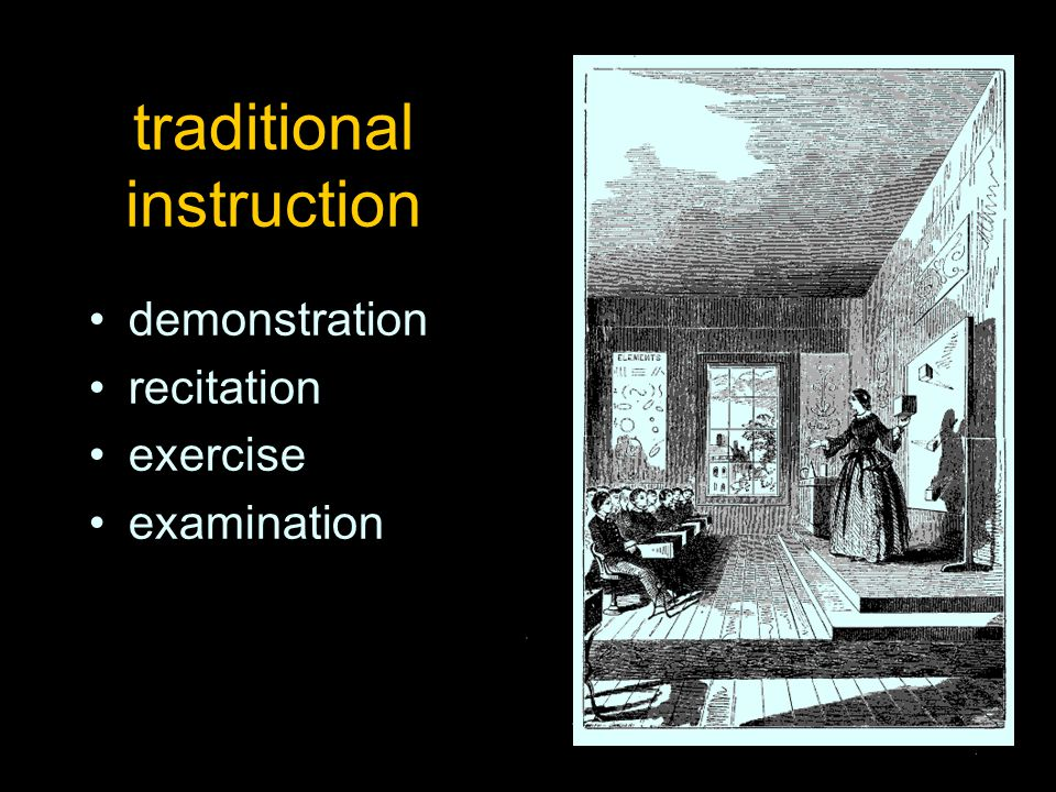 traditional instruction demonstration recitation exercise examination