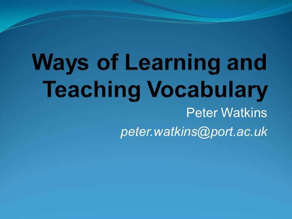 Peter Watkins peter.watkins@port.ac.uk