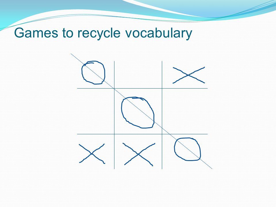 Games to recycle vocabulary