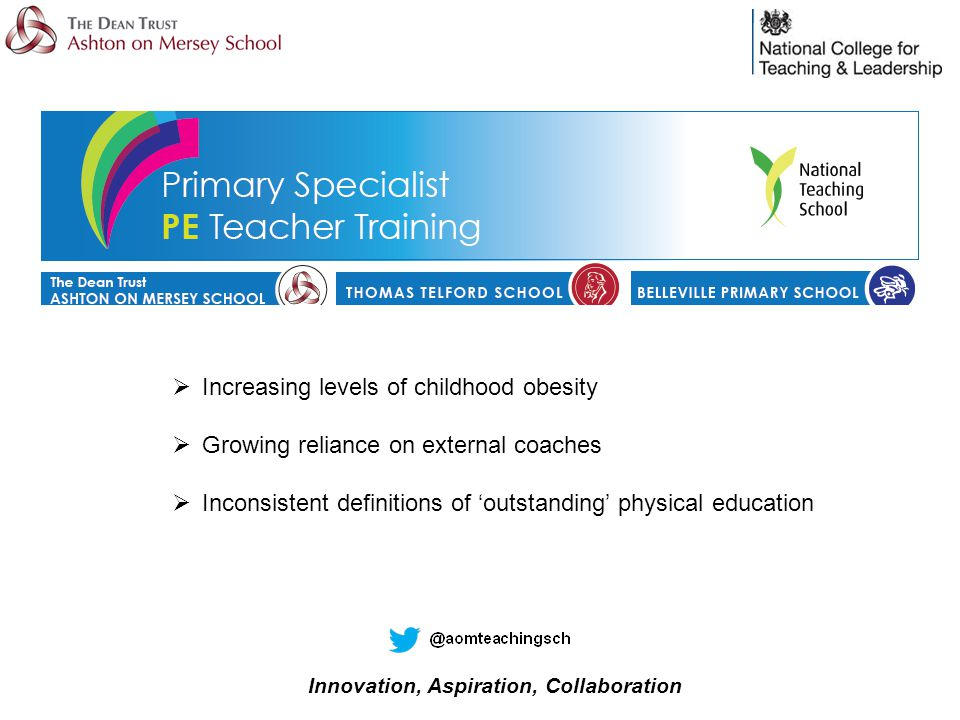  Increasing levels of childhood obesity  Growing reliance on external coaches  Inconsistent definitions of 'outstanding' physical education
