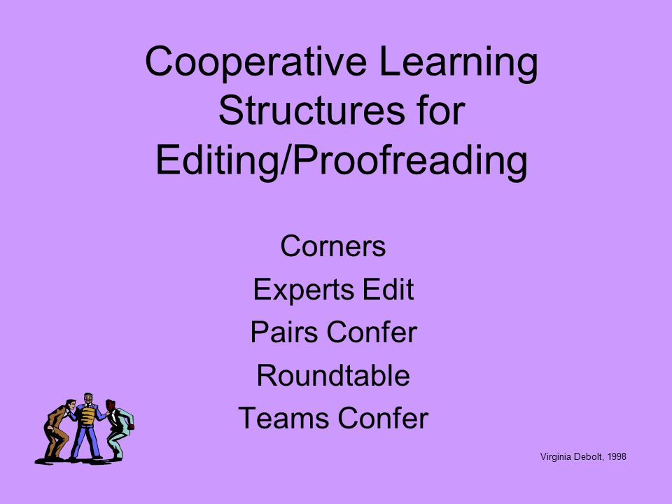 Teach basic editing conventions to students and encourage them to use them in editing. Teach popular acronyms such as: C Capitalization C Capitalizati