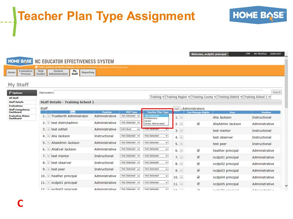 Teacher Plan Type Assignment C