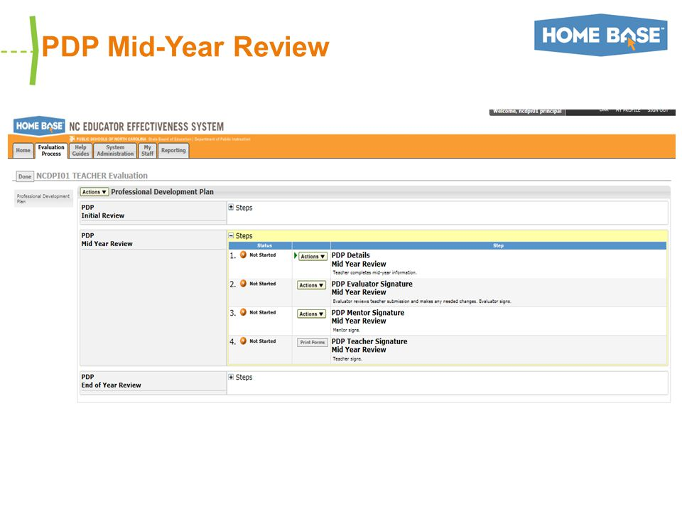 PDP Mid-Year Review