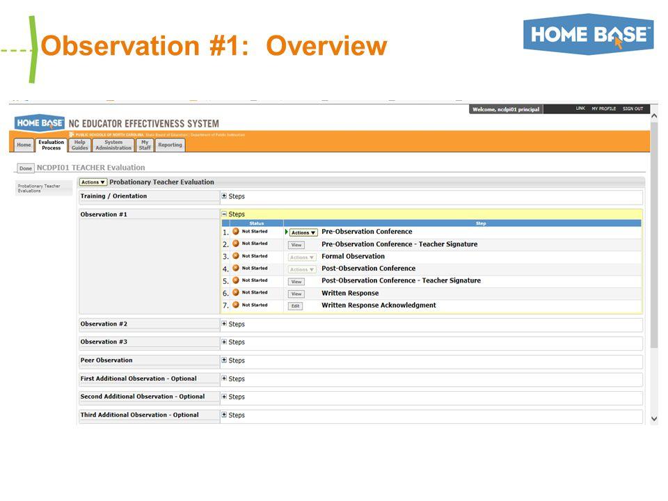 Observation #1: Overview