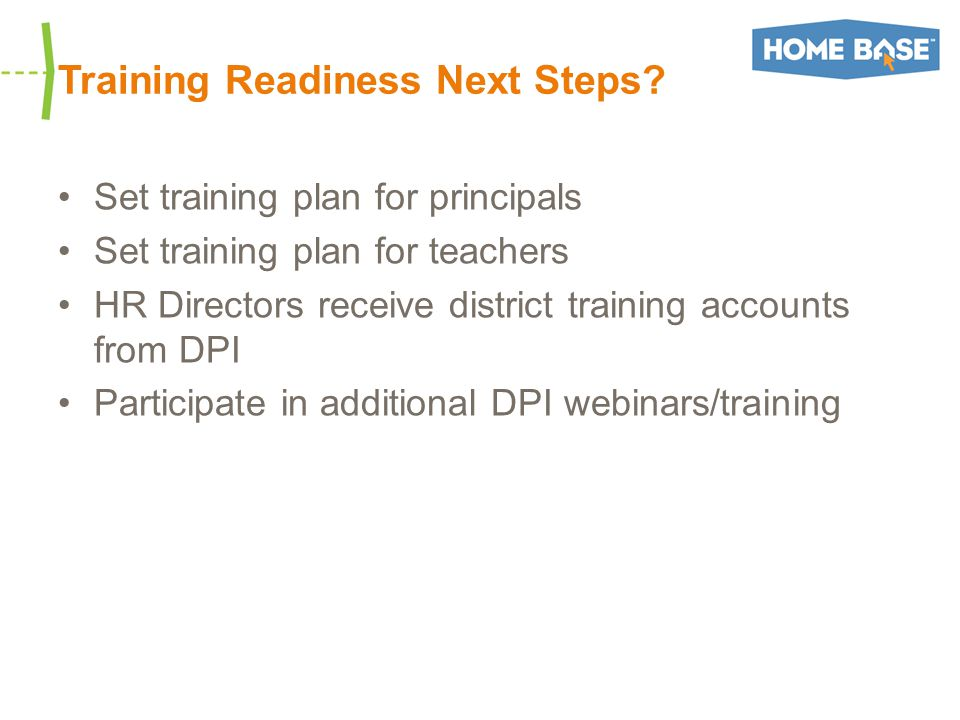 Training Readiness Next Steps.