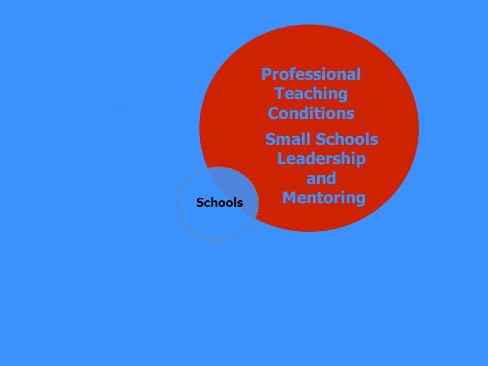Professional Teacher Preparation Professionally Rewarding Career Paths Schools Professional Teaching Conditions Small Schools Leadership and Mentoring