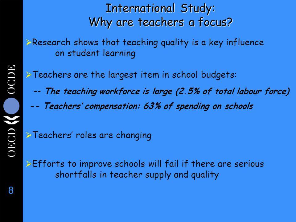 8 International Study: Why are teachers a focus.