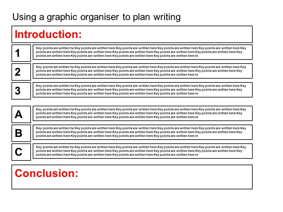 Using a graphic organiser to plan writing 1 Key points are written he Key points are written here Key points are written here Key points are written here Key points are written here Key points are written here Key points are written here Key points are written here Key points are written here Key points are written here Key points are written here Key points are written here Key points are written here Key points are written here re 2 3 A B C Conclusion: Key points are written he Key points are written here Key points are written here Key points are written here Key points are written here Key points are written here Key points are written here Key points are written here Key points are written here Key points are written here Key points are written here Key points are written here Key points are written here Key points are Introduction: Key points are written he Key points are written here Key points are written here Key points are written here Key points are written here Key points are written here Key points are written here Key points are written here Key points are written here Key points are written here Key points are written here Key points are written here Key points are written here Key points are written here re