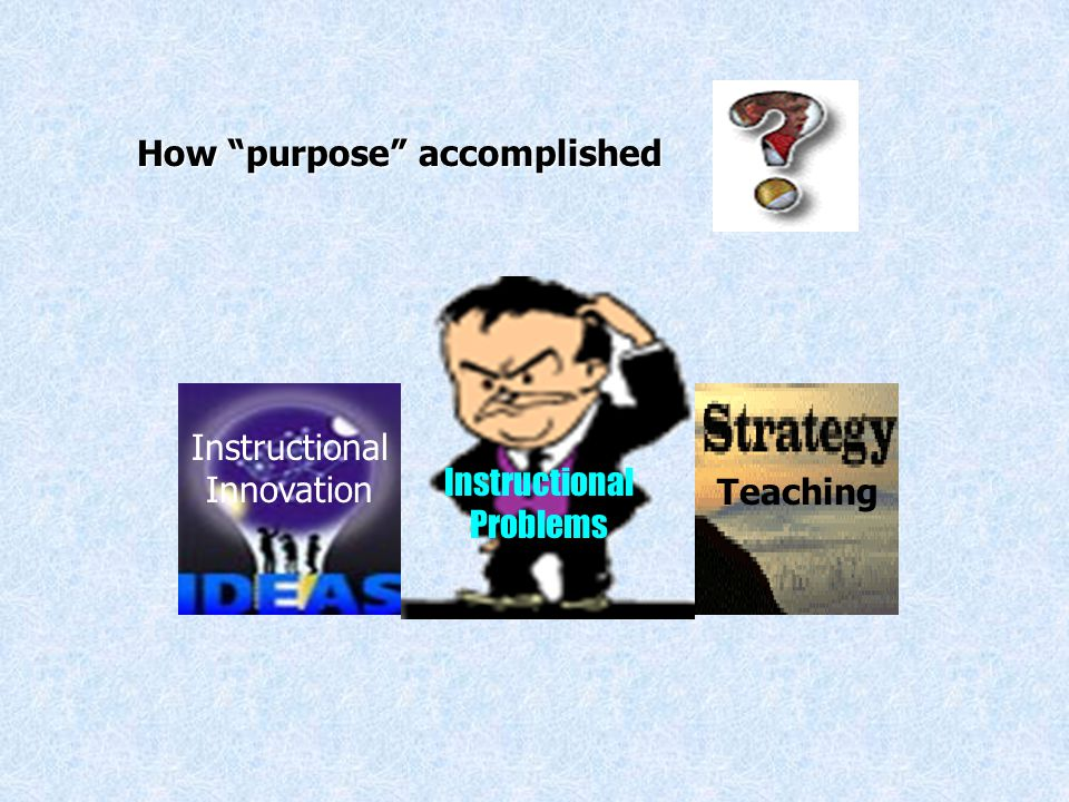 How purpose accomplished Instructional Innovation Instructional Problems Teaching