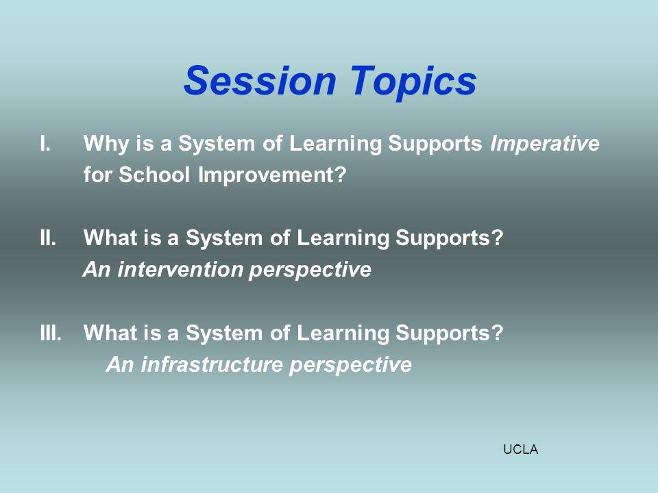 UCLA School Improvement Planning: What's Missing?
