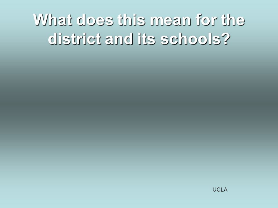 UCLA What does this mean for the district and its schools