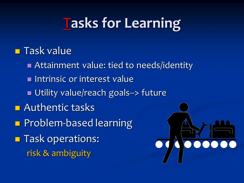 On TARGETT for Learning Task motivation Task motivation Autonomy Autonomy Rewards Rewards Grouping Grouping Evaluation & feedback Evaluation & feedback Time for learning Time for learning Teacher expectations Teacher expectations