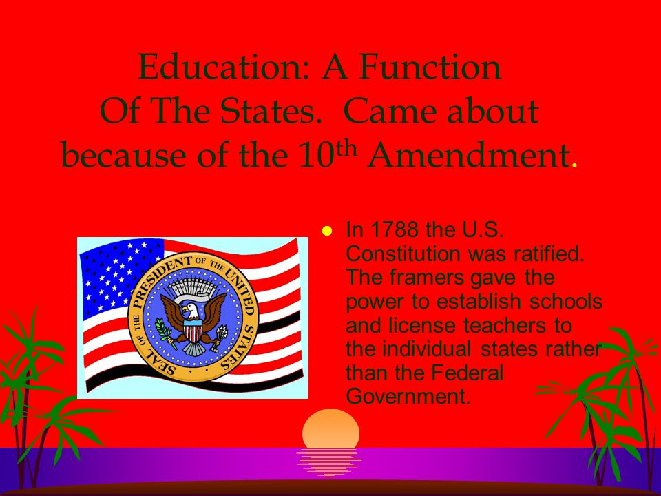 Once America realized everyone had the right to A free and public education, they created an amendment.