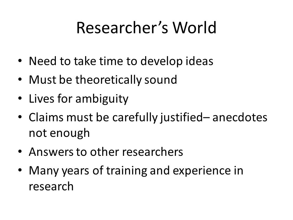 Questions for you Do you think there are two worlds of teaching and research.