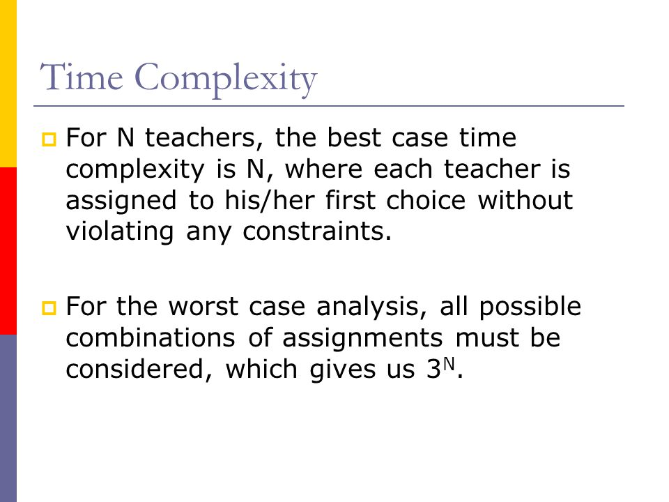Conclusion  We defined the teacher relocation problem, modeled it using constraints, implemented a solution as an ECLiPSe program, and tested our solution under various scenarios.