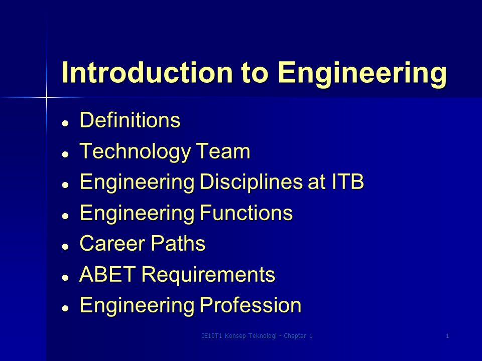 IE10T1 Konsep Teknologi - Chapter 12 What is Engineering.