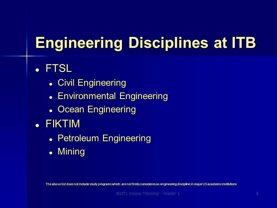 IE10T1 Konsep Teknologi - Chapter 19 Engineering Degrees Awarded by Discipline in the US in 1993-94.