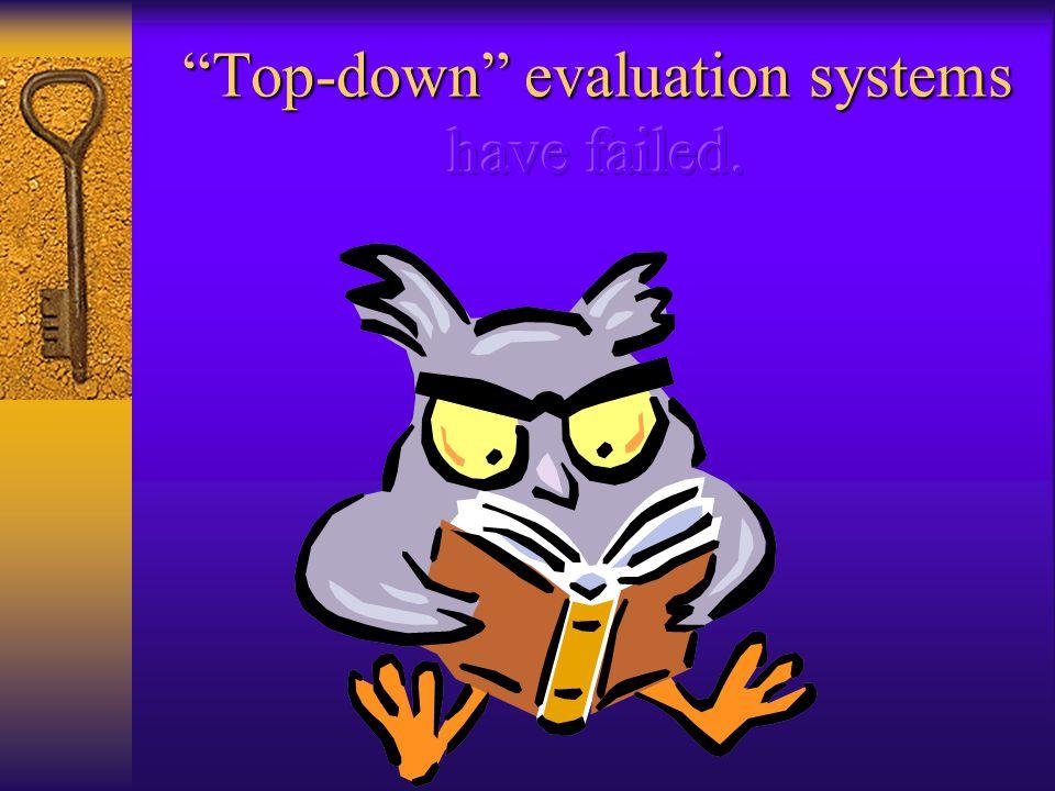 Teacher Empowerment Exploring alternate evaluation paradigms.