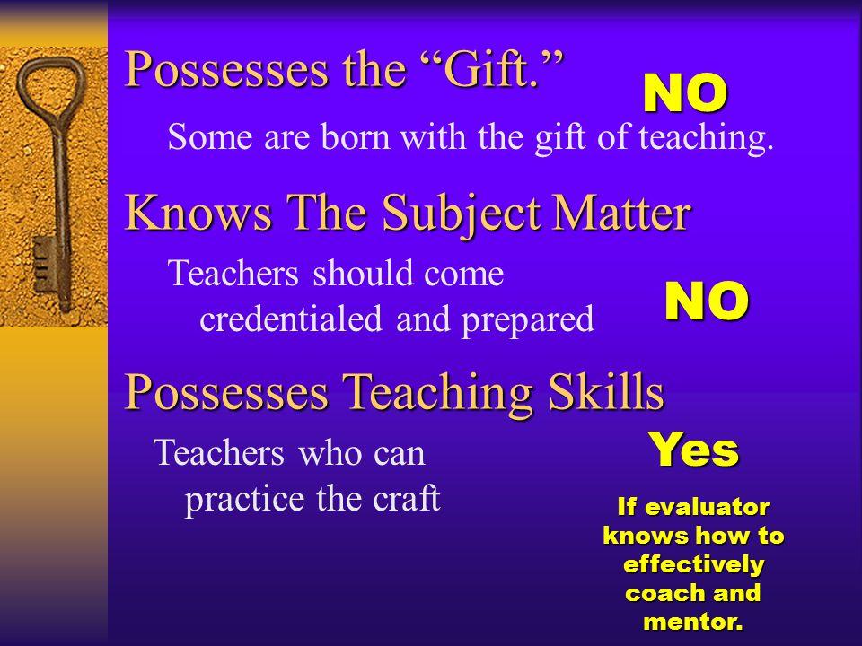 Sounds like motherhood and apple pie to me OK, describe a good teacher.