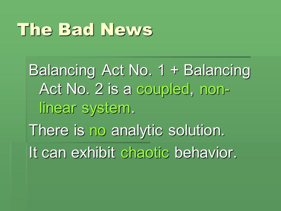 The Bad News Balancing Act No. 1 + Balancing Act No.