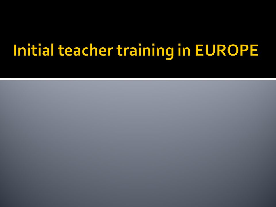 Figure A1: Structure of Initial Teacher Training Education for primary and lower secondary education.