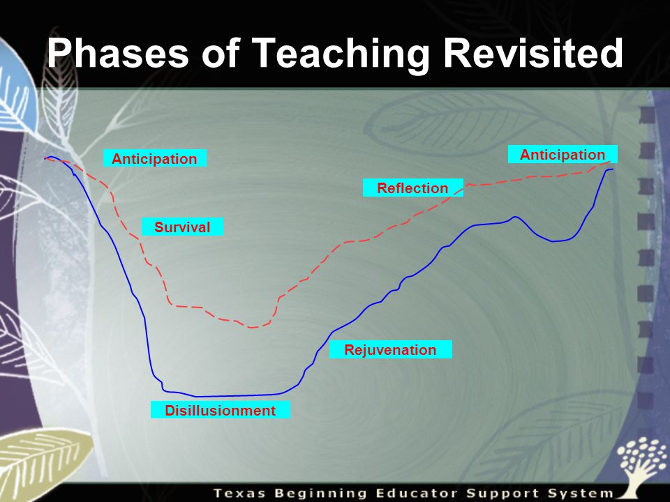 Phases of Teaching Revisited Survival Anticipation Disillusionment Rejuvenation Reflection Anticipation