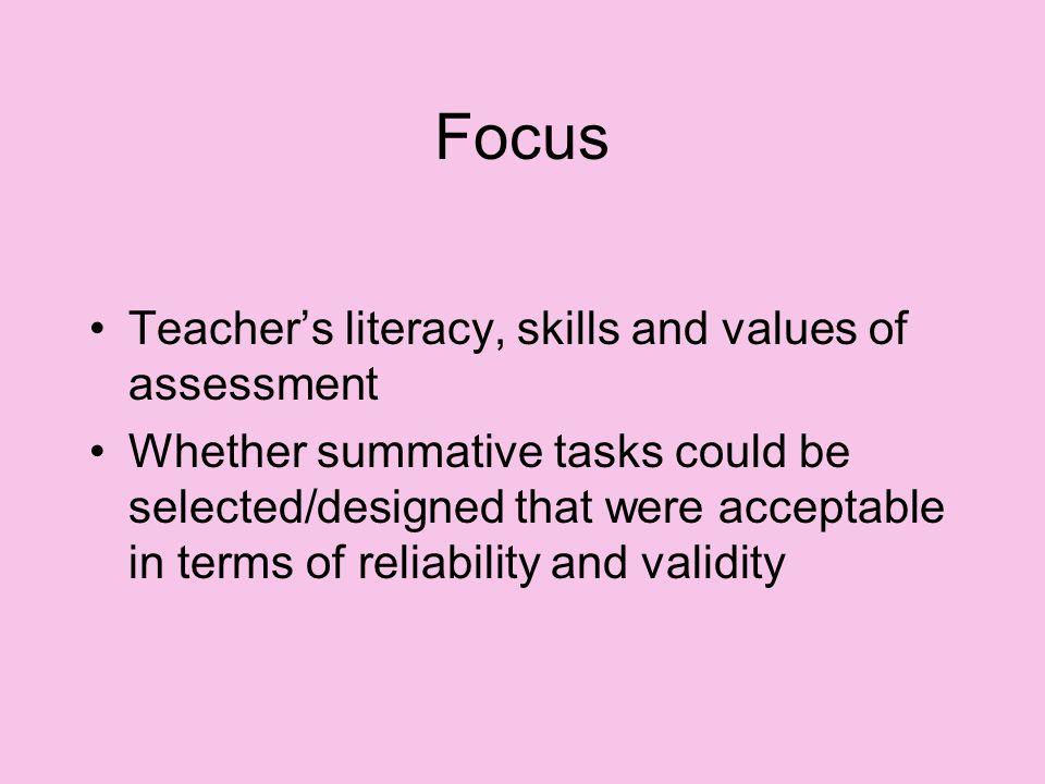 Strengthening processes of assessment.
