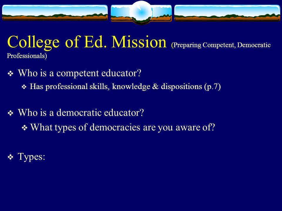 College of Ed.