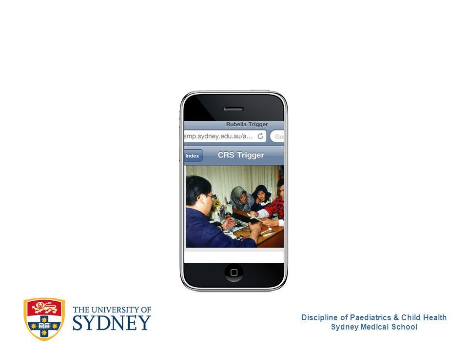 Discipline of Paediatrics & Child Health Sydney Medical School