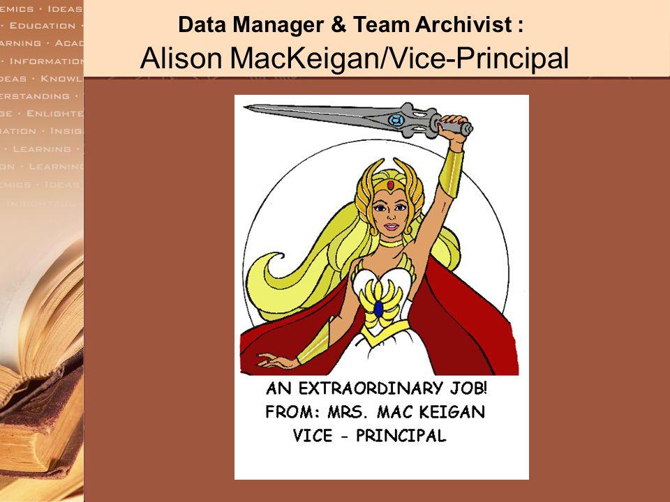 Recorder/Secretary & Communication Coordinator: Susan Henderson/Principal