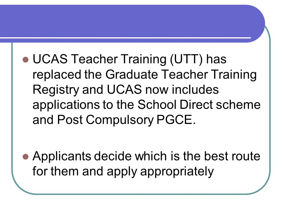 Applicants will have three (concurrent) choices.