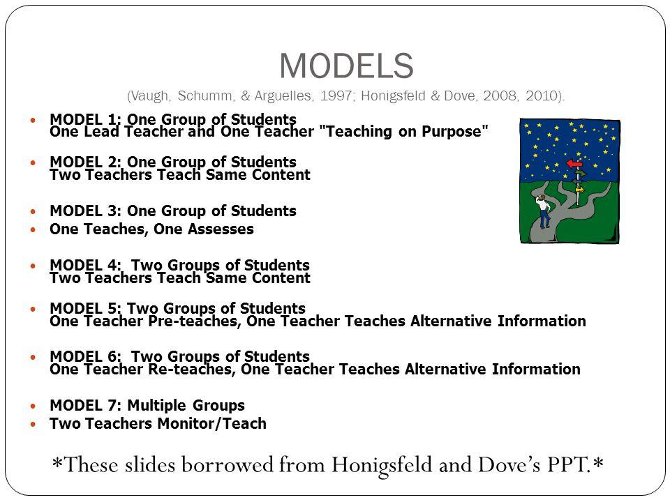 MODELS (Vaugh, Schumm, & Arguelles, 1997; Honigsfeld & Dove, 2008, 2010).