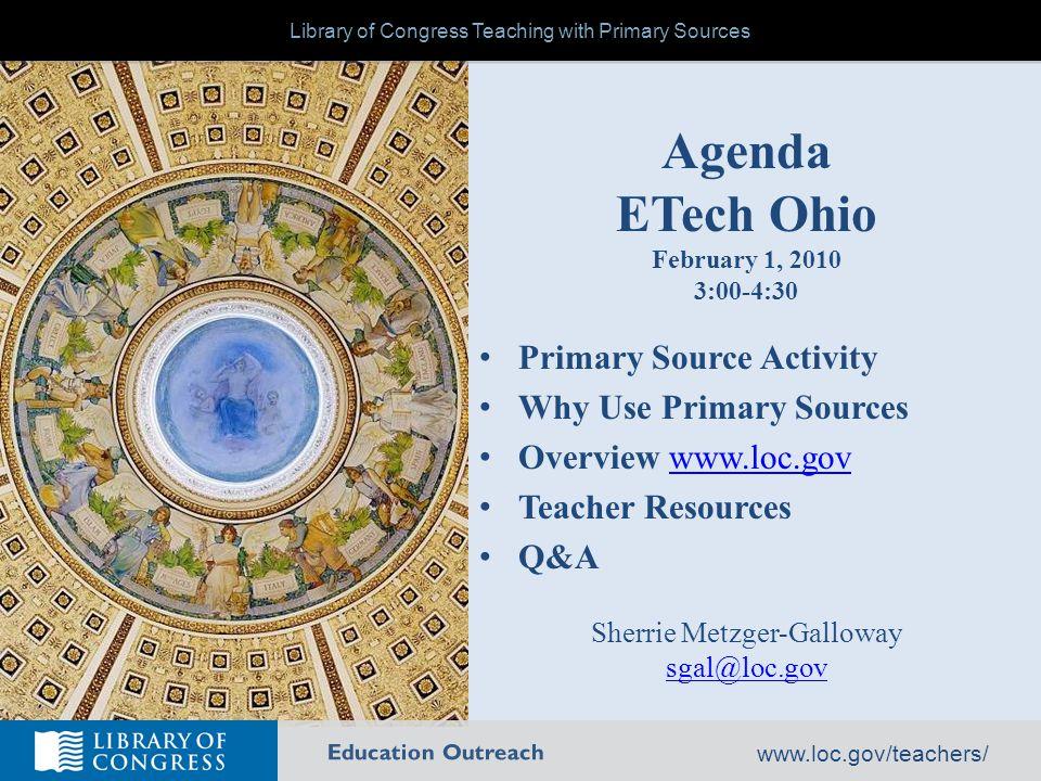 Education Outreach www.loc.gov/teachers/ Handout
