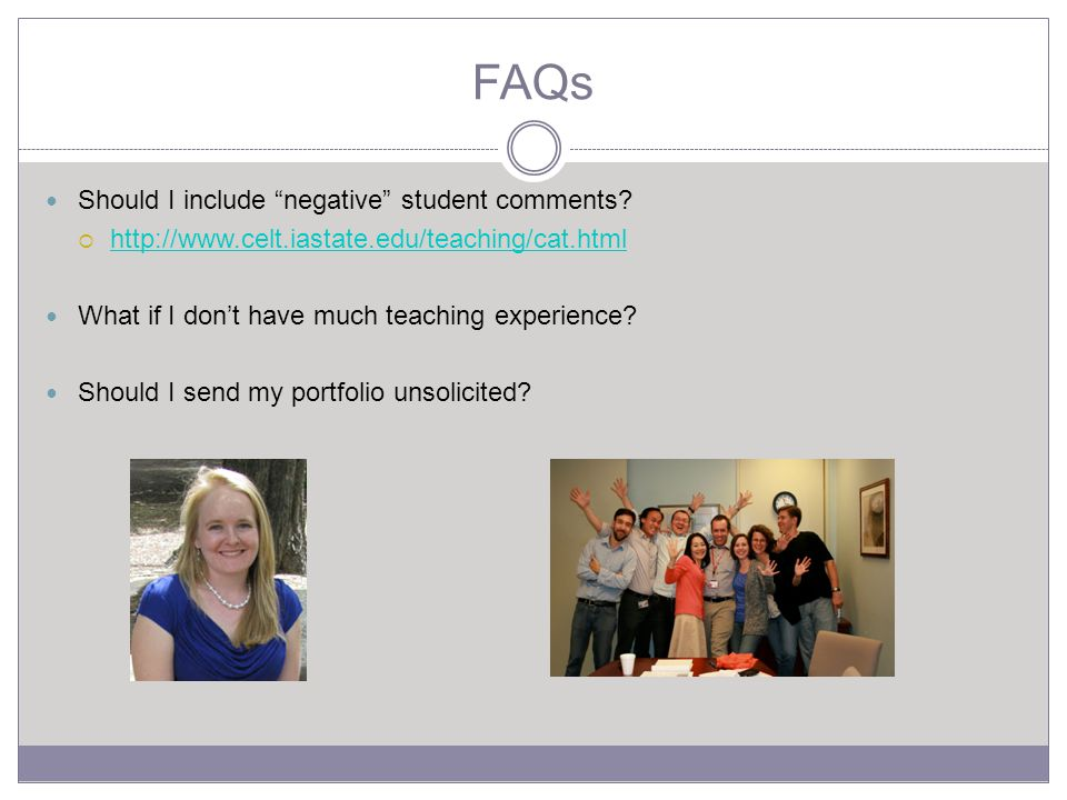 FAQs Should I include negative student comments.