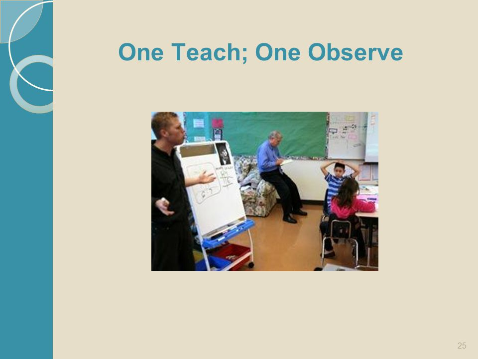 25 One Teach; One Observe