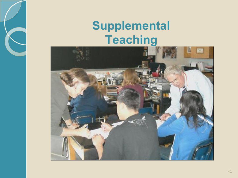 45 Supplemental Teaching