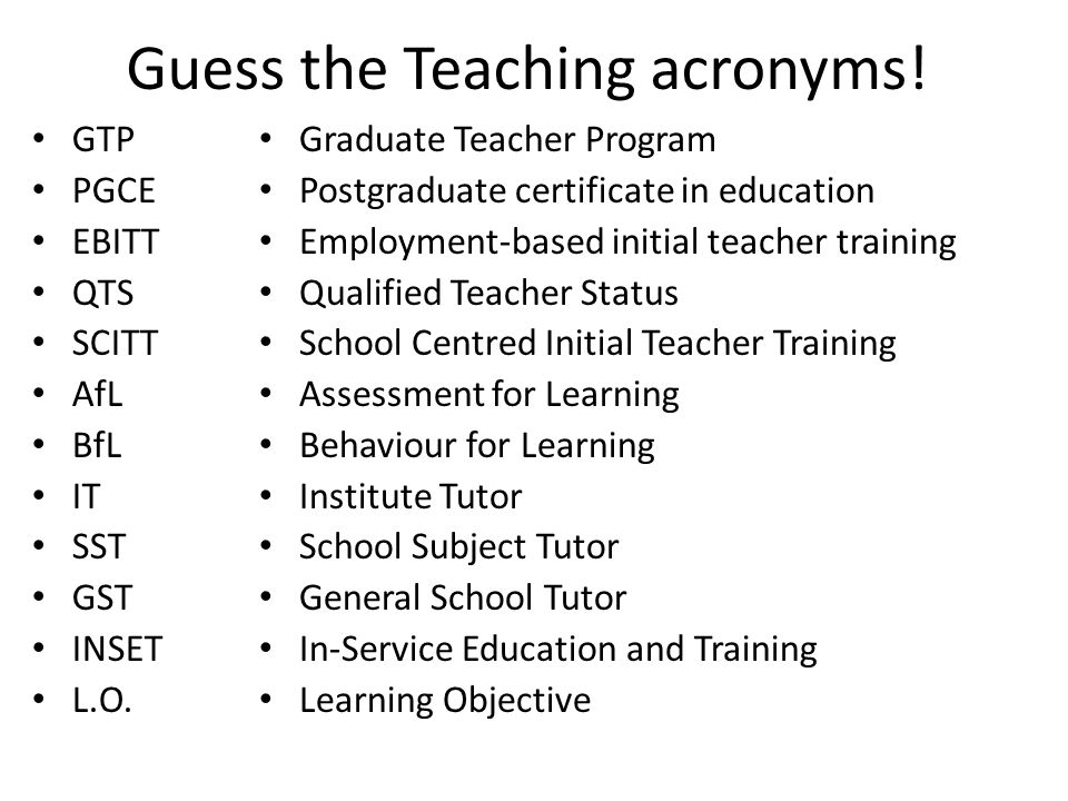 Today we'll cover: What is the GTP.What are the differences between GTP and PGCE.
