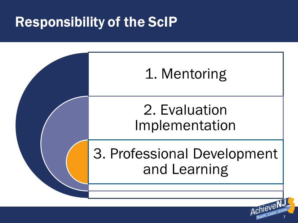 18 Further Resources: AchieveNJ ScIP Corner ScIP Guidance 1.0 Starting Stronger in 2014-15 Syllabus for Success School PDP Template and Sample Website resources most relevant to ScIPs include: