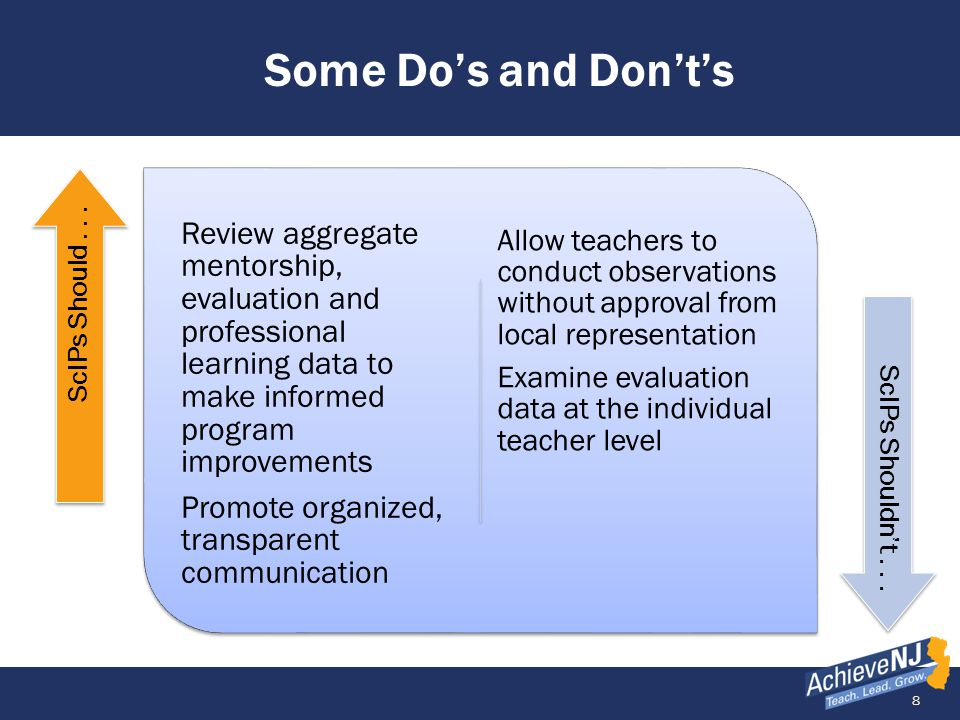 19 AchieveNJ Resources Website resources most relevant to teachers include: Main website: http://www.nj.gov/education/AchieveNJ/http://www.nj.gov/education/AchieveNJ/ Teacher Evaluation Page: http://www.nj.gov/education/AchieveNJ/teacher/http://www.nj.gov/education/AchieveNJ/teacher/ SGO Page: http://www.nj.gov/education/AchieveNJ/teacher/objectives.shtmlhttp://www.nj.gov/education/AchieveNJ/teacher/objectives.shtml SGP Page http://www.nj.gov/education/AchieveNJ/teacher/percentile.shtmlhttp://www.nj.gov/education/AchieveNJ/teacher/percentile.shtml Resource Library: http://www.nj.gov/education/AchieveNJ/resources/http://www.nj.gov/education/AchieveNJ/resources/ Please visit our website periodically.