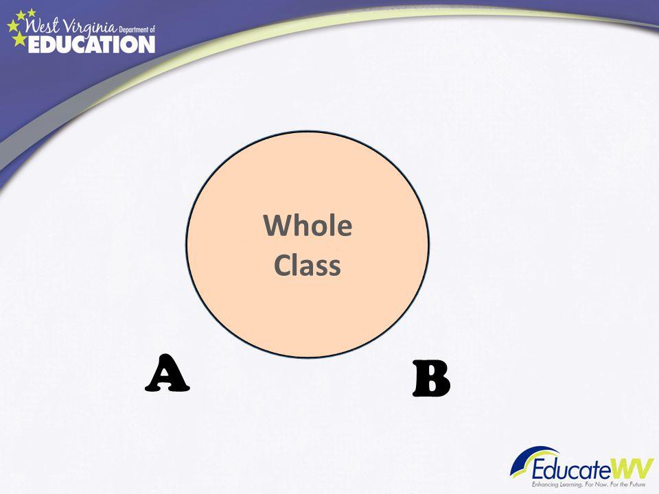 Whole Class A B
